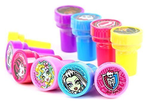 Mattel Monster High Self-Inking Stamps / Stampers Party Favors (10 -