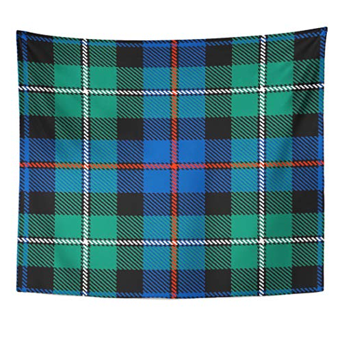 Semtomn Tapestry Artwork Wall Hanging Anderson Mackenzie Tartan Plaid Kilts Blankets Scotland Scotch Clan 50x60 Inches Tapestries Mattress Tablecloth Curtain Home Decor Print