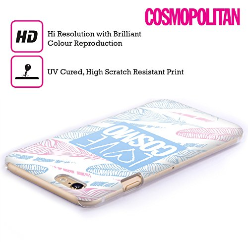 Official Cosmopolitan Pastel Feathers Love Cosmo Hard Back Case for Apple iPhone 4 / 4S