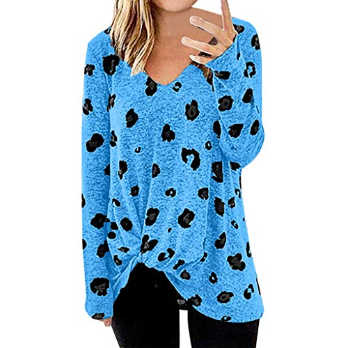 Respctful✿ Women's Oversized V-Neck Floral Print Long Sleeves Batwing Sweatshirt Tunics Blouse Tops