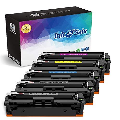 INK E-SALE Compatible Toner Cartridge Replacement for HP 410A CF410A CF411A CF412A CF413A (2KCMY, 5-Pack), for use with Color LaserJet Pro MFP M477fdn M477fdw M477fnw, M452dn M452nw M452dw Printer