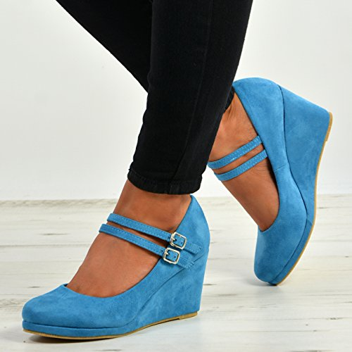 Cucu Fashion Femme Bleu Bride Cheville FPqaFr