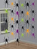 Halloween Decorations - 7ft Strings of Spiders x 6