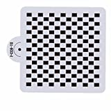 Bakell Stencil - 6x6 Checkered Print - Decorating and Crafting Stencils from Bakell