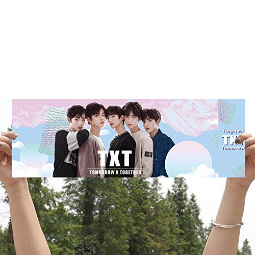 Nuofeng - Kpop TXT Tomorrow X Together Fans Army Support Banner for Party Concert Flag《The Dream Chapter:Star》《Cat&Dog》