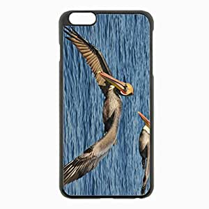 iPhone 6 Plus Black Hardshell Case 5.5inch - sea birds pelicans Desin Images Protector Back Cover