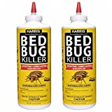 HARRIS FAMOUS ROACH TABLETS Harris Bed Bug Killer, Diatomaceous Earth Powder 1/2 LB, Fast Kill with Extended Residual Protection (2/Pack)