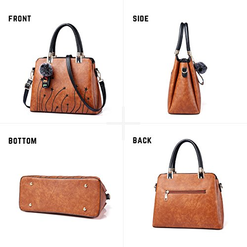Women Purses and Handbags Top Handle Satchel Shoulder Tote Bags Fashion Leather Girls Crossbody Bag by PINCNEL (Image #2)