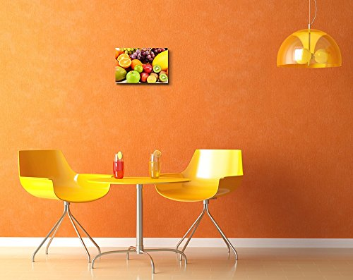 Still Life Composition with Variety of Fresh Fruits Wall Decor