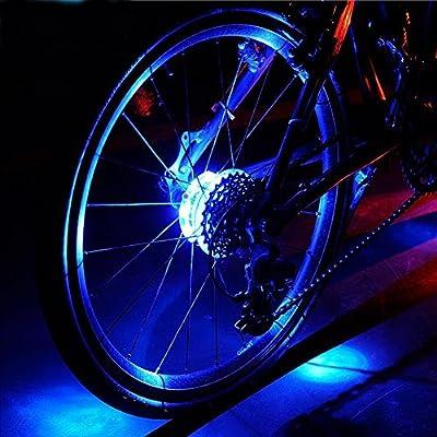 Wiitek Leadbike Bicycle LED Wheel Light, Colorful Bike Warning Light, Magic Decoration Light, 3 Shining Modes, 3xLR44 Battery IP55 Waterproof