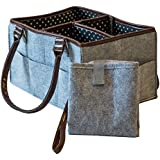 The Precious Baby Diaper Caddy | Portable Changing Pad...