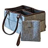 The Precious Baby Diaper Caddy | Portable Changing Pad | Large Car Travel Organizer | Nursery Storage Bin for Boys Girls | Nursery Tote Bag | Baby Shower Gift Basket | Newborn Registry Must Haves |