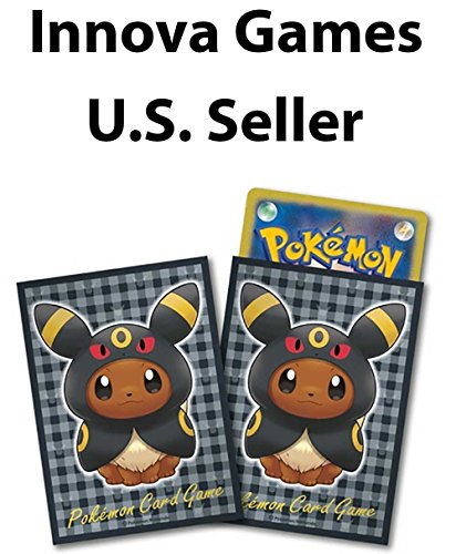 Pokemon Center Card Sleeves - Eevee Umbreon Poncho 64ct Pack