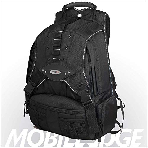 - Mobile Edge Black w/Silver Trim Premium Large Size 17.3 inch PC's Laptop Backpack Cool-Mesh Ventilated Back Panel, SafetyCell Protection, Men, Women, Business, Student MEBPP1