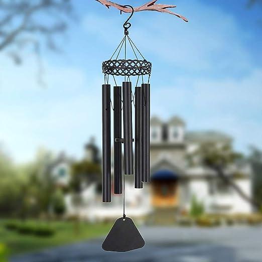 Amazon.com: Campana de viento estilo étnico vintage 5 tubos ...