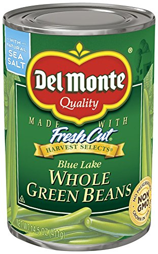 - Del Monte Canned Harvest Select Whole Green Beans, 14.5-Ounce (Pack of 12)