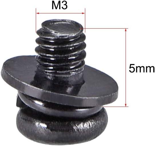 Tornillos Phillips de acero al carbono para m/áquina con arandela de resorte y arandelas lisas Sourcingmap