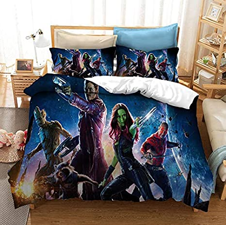 Guardians of The Galaxy Duvet Cover Set Bedding Set 3 Pieces