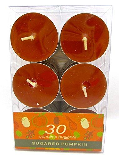 Autumn Decor Jo-ann's Sugared Pumpkin Tealights,set of 30, -