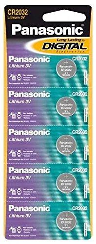 Bateria Litio Panasonic Cr2032 3v 10 Cartela C/5 Pilhas Moeda
