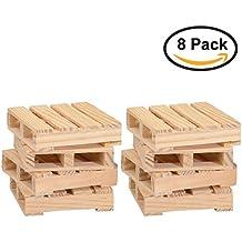 Thirsty Rhino Udara Wood Pallet Coasters (Set of 8)