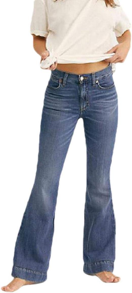 AngelSpace 女性のスリムフィットトレンディなポケットミドルウエストプラスサイズセクシーなジーンズ