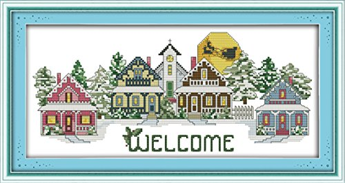 WHEEXLOCK Counted Cross Stitch Kits Welcome 11 Count 20.5