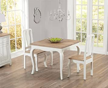 Remarkable Parisian 90Cm Dining Table With Two Dining Chairs Amazon Co Dailytribune Chair Design For Home Dailytribuneorg