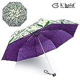 Kobold Compact Art Umbrella Lightweight Parasol Umbrellas Travel for Sun Rain UV Protection (Green)