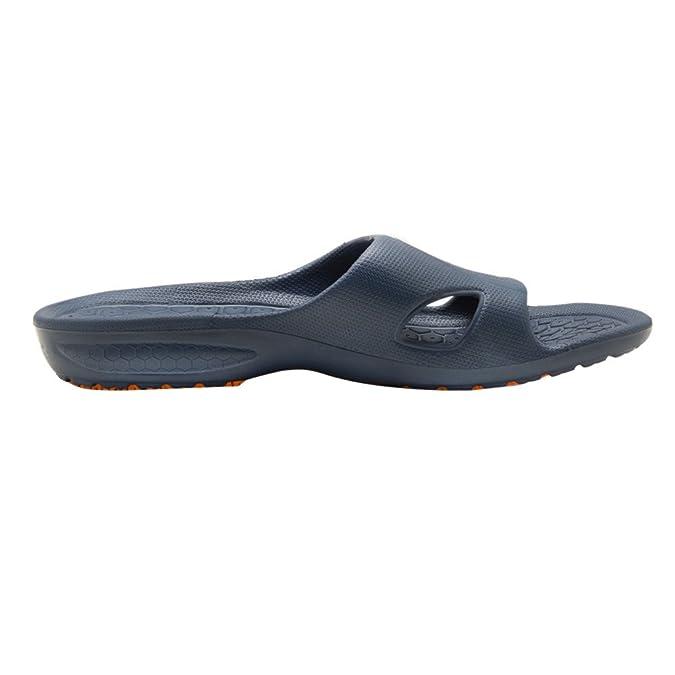 be36fa81b KENROLL 2017 Men s Bathroom Shower Anti Skid Sandals Slippers Non-Slip EVA  Flat Soles Flip Flops (9-9.5 UK 44-45 EU