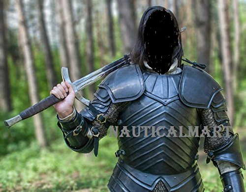 NAUTICALMART Medieval Brienne of Tarth Dark Armor Suit with Chainmail Armor- Halloween]()