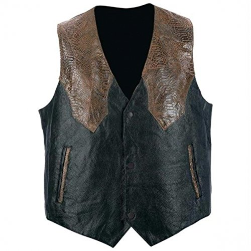 (Giovanni Navarre & Trade Hand-Sewn Pebble Grain Genuine Leather Western-Style Vest 2X)
