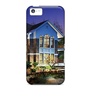 linJUN FENGHigh-quality Durability Cases For iphone 6 plus 5.5 inch(3d House With Water Pond)