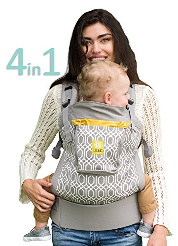 4 in 1 ESSENTIALS Baby Carrier by LILLEbaby - Grey Eternity Knot