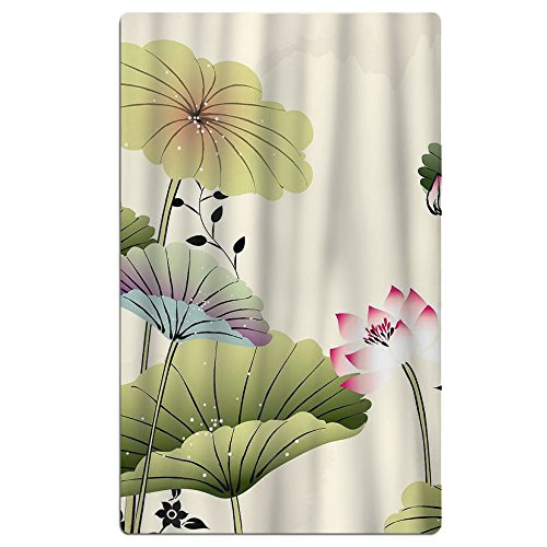 Phyllis Walker Summer Lotus Leaf Butterfly Beach Towel Soft Quick Dry Lightweight High Absorbent Pool Spa Towel For Men Women 31 X 51 Inch