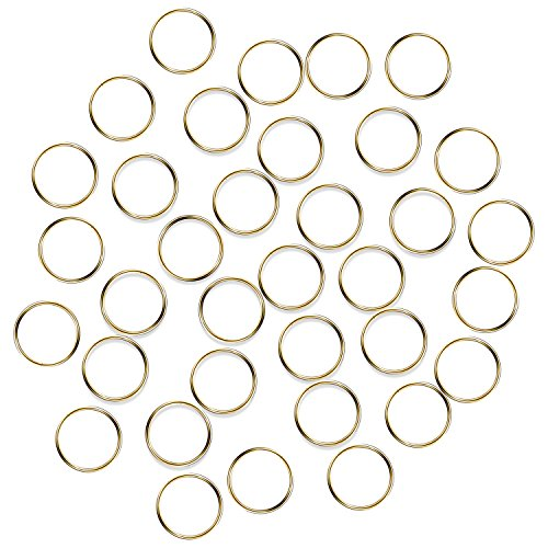 Crystal Gold Garland - Fushing 100Pcs Stainless Gold Color Split Rings, Crystal Chandeliers Connectors for Chandelier, Curtain,Suncatchers, Crystal Garland,Necklaces, Keys, Earrings, Jewelry Making (Gold, 12mm)
