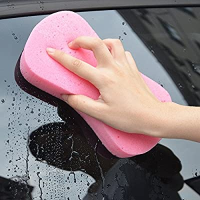 Lantee Large Sponges - Car Cleaning Supplies - 10 Pcs High Foam Cleaning Washing Sponge Pad for Car: Automotive