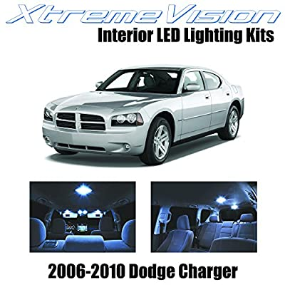 XtremeVision Interior LED for Dodge Charger 2006-2010 (5 Pieces) Cool White Interior LED Kit + Installation Tool: Automotive