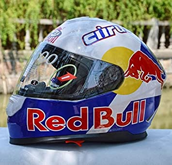 CASCO MOTO RED BULL BLANCO TALLAS M -L-XL