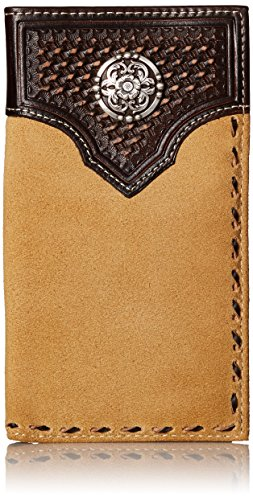 Ariat Men's Rough Out Buck-Stitch Rodeo, Tan, One Size
