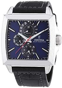 Festina F16586/3 - Reloj analógico de cuarzo para hombre con correa de piel, color negro