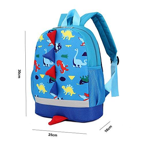 D'école 3d Maternelle Marine Sac Dos bleu Bébé Scolaire À Fille Garçon Mignon Enfant Dinosaure Garderie Pour Primaire Marine Dafenq Sacs Préscolaire Bleu xw0Yq8nf