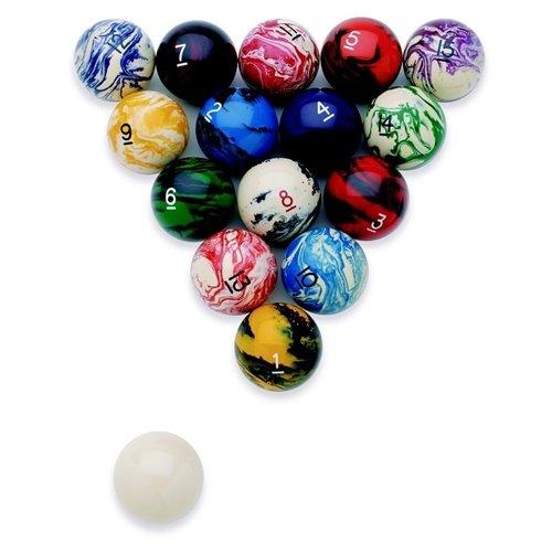 EPCO Marbleized Regulation Billiard/Pool Ball Set