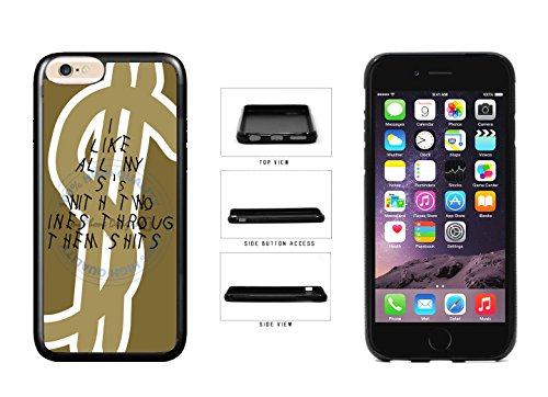 Funny Dollar Sign Rap Lyrics TPU Rubber SILICONE Phone Case Back Cover For Apple iPhone 6 Plus (5.5 Inches Screen) comes with Security Tag and MyPhone Designs(TM) Cleaning Cloth