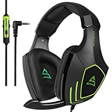 2017 New Coming SUPSOO G820 Multi-Platform Gaming Headset with Noise Cancelling Mic For PC, Mac, PS4, New Xbox one, Laptop, iPad, iPod Bass Stereo Surround Sound Gaming Headphones - Black Green