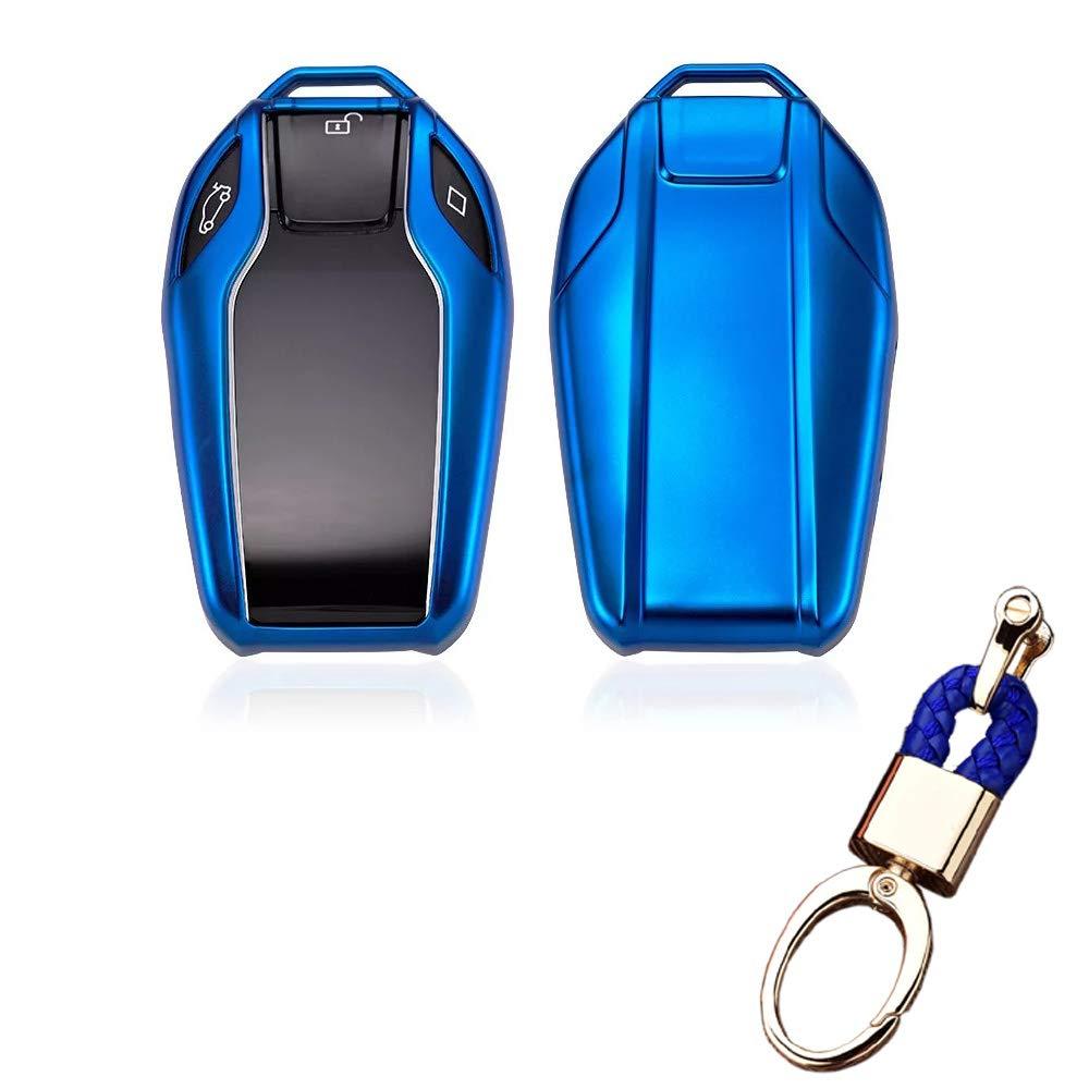 TM Royalfox 2018 528Li 530Li 540Li,BMW 2016 2017 2018 7 Series G11 G12 Pink Soft TPU Smart Display LCD Remote Key Fob case Cover for BMW 5 Series