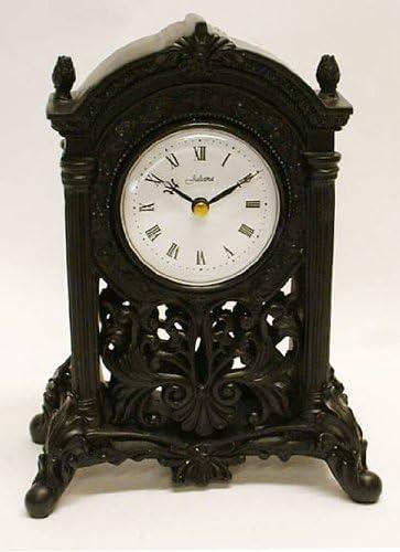 Black Art Deco Filigree Mantel Clock Antique Reproduction Design Amazon Co Uk Kitchen Home
