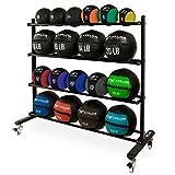 Valor Fitness BG-59 Rolling Rack for Exercise Balls with 4-Tier Shelf