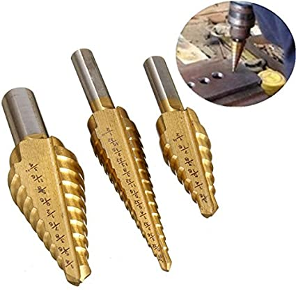 ILS - 3 piezas HSS vástago redondo titanio revestimiento taladro Bit rápido cambio Paso 3/16 - 1/2 1/8 - 1/2 1/4 - 3/4 pulgadas: Amazon.es: Electrónica