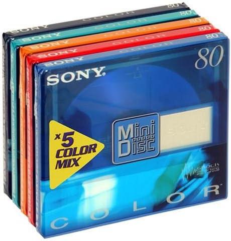 Sony Minidisc Color Mix Cellophaniert 5 Mds Mit Elektronik
